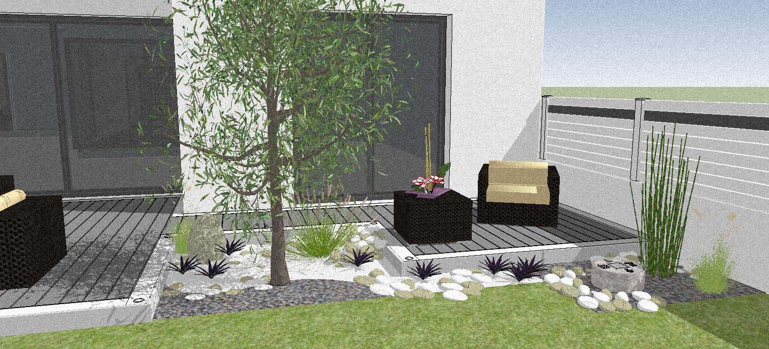 Jardin Mineral Zen Photo etudes création et aménagement de parcs et jardin sur la